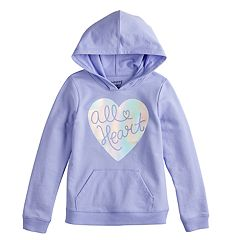 Girls 4-12 Jumping Beans® 'All Heart' Iridescent Graphic Hoodie