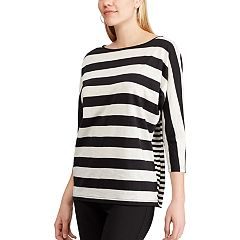 Petite Chaps Striped Dolman Top
