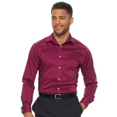 Men's Chaps Regular Fit Comfort Stretch Spread Collar Dress Shirt