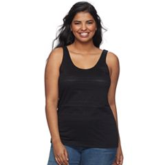 Juniors' Plus Size SO® Lace Tank