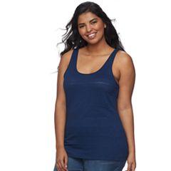 Juniors' Plus Size SO® Lace Tank