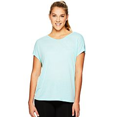 Women's Gaiam Lotus Yoga Strappy Short Sleeve Top