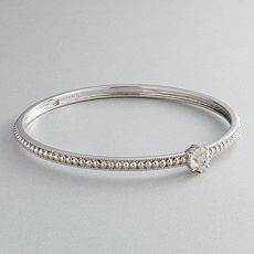Simply Vera Vera Wang Sterling Silver Crystal Bangle Bracelet :  sterling silver vera wang kohls womens