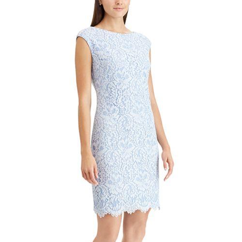 Women s Chaps Floral Lace Sheath Dress e05fc5f24