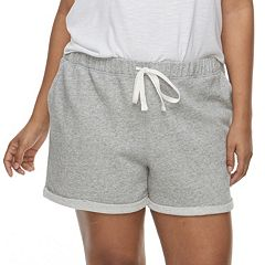 Juniors' Plus Size SO® Roll Cuff French Terry Shorts