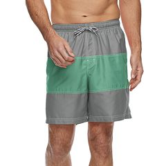 Men's Croft & Barrow® Colorblock Swim Trunks