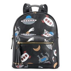 OMG Accessories Glitter Space Mini Backpack