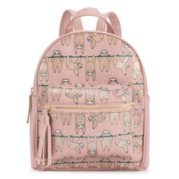 OMG Accessories Glitter Sloth Mini Backpack