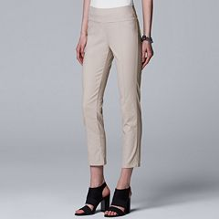 Women's Simply Vera Vera Wang Everyday Luxury Modern Pull-On Skinny Ankle Pants