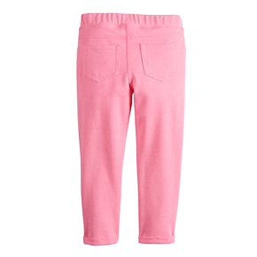 Girls 4-12 Jumping Beans® Solid French Terry Ankle Pants