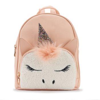 OMG Accessories Faux-Fur Unicorn Mini Backpack