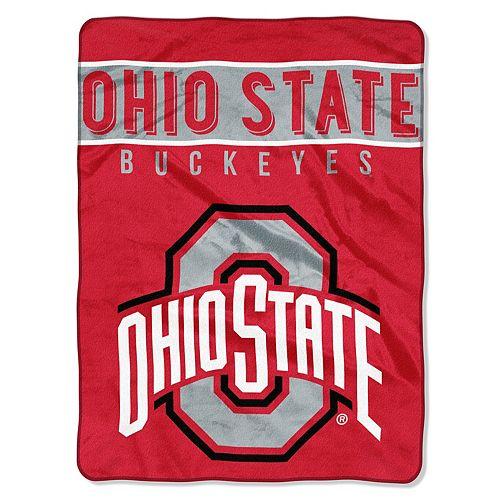 """Ohio State Buckeyes 60"""" x 80"""" Raschel Throw Blanket"""