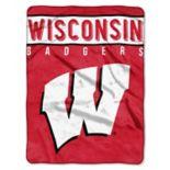 """Wisconsin Badgers 60"""" x 80"""" Raschel Throw Blanket"""