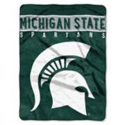 """Michigan State Spartans 60"""" x 80"""" Raschel Throw Blanket"""
