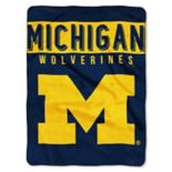 "Michigan Wolverines 60"" x 80"" Raschel Throw Blanket"