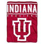 """Indiana Hoosiers 60"""" x 80"""" Raschel Throw Blanket"""