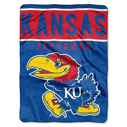 "Kansas Jayhawks 60"" x 80"" Raschel Throw Blanket"