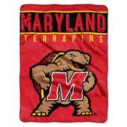 """Maryland Terrapins 60"""" x 80"""" Raschel Throw Blanket"""