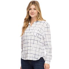 Women's IZOD Weekend Linen-Blend Shirt