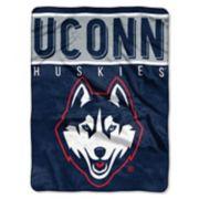 """UConn Huskies 60"""" x 80"""" Raschel Throw Blanket"""
