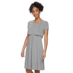 Maternity a:glow Popover A-Line Nursing Dress