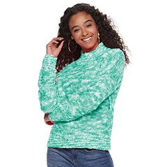 Juniors' SO® Mock Neck Pullover Sweater