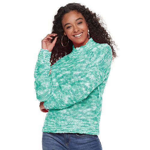 Juniors' SO® Mock Neck Pullover Sweater