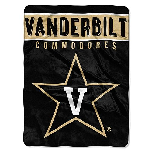 "Vanderbilt Commodores 60"" x 80"" Raschel Throw Blanket"