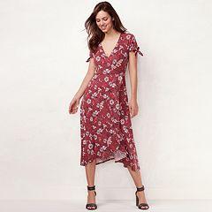 Women's LC Lauren Conrad Faux-Wrap Midi Dress