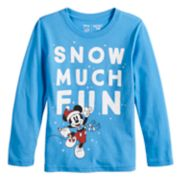 "Disney's Mickey Mouse Boys 4-12 ""Snow Much Fun"" Softest Graphic Tee by Jumping Beans®"