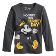 "Disney's Mickey Mouse Boys 4-12 Thanksgiving ""Hooray for Turkey Day"" Pilgrim Softest Graphic Tee by Jumping Beans®"