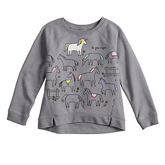 Toddler Girl Jumping Beans® Glitter Graphic French Terry Pullover