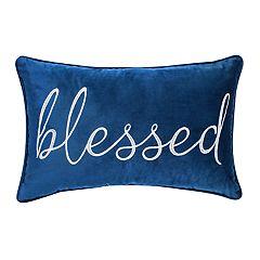 Velvet 'Blessed' Throw Pillow