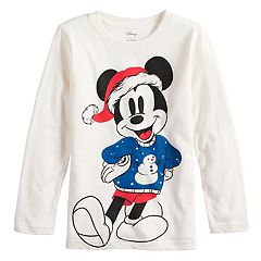 Disney's Mickey Mouse Boys 4-12 Santa Hat Softest Graphic Tee by Jumping Beans®