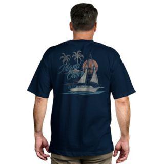 Men's Newport Blue Tropical Graphic Tee