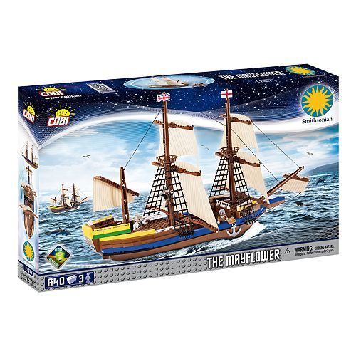 COBI Smithsonian Pilgrim Ship Mayflower 640-Piece Construction Blocks Building Kit