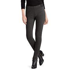 Petite Chaps Slim-Fit Mid-Rise Ponte Skinny Pants