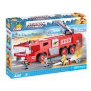 COBI Action Town Airport Fire Truck 420-Piece Construction Blocks Building Kit