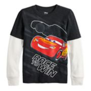 Disney/Pixar Cars Boys 4-12 Lightning McQueen Mock Layer Graphic Tee by Jumping Beans®
