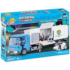 COBI Action Town Police Mobile Command Center 360-Piece Construction Blocks Building Kit