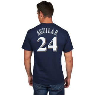 Men's Milwaukee Brewers Jesus Aguilar Name and Number Tee
