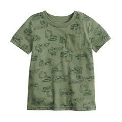 Baby Boy Jumping Beans® All Over Construction Trucks Pocket Tee