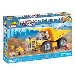 COBI Action Town Construction Big Tipper Dump Truck 300-Piece Construction Blocks Building Kit