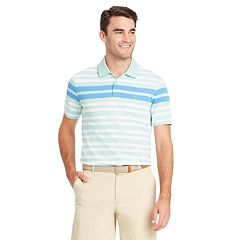 Men's IZOD Sportflex Classic-Fit Engineer-Striped Stretch Performance Polo