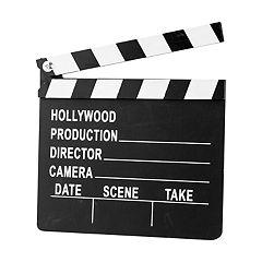 Nifty Hollywood Scene Take Chalkboard Clapperboard