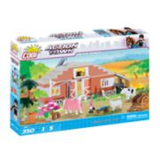 COBI Action Town On The Ranch 350-Piece Construction Blocks Building Farm Kit