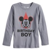 "Disney's Mickey Mouse Boys 4-12 ""Birthday Boy"" Softest Graphic Tee by Jumping Beans®"