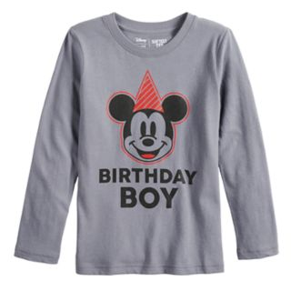 """Disney's Mickey Mouse Boys 4-12 """"Birthday Boy"""" Softest Graphic Tee by Jumping Beans®"""