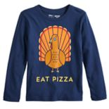 "Boys 4-12 Jumping Beans® Turkey ""Eat Pizza"" Softest Graphic Tee"