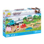 COBI Action Town Equestrian Competition 320-Piece Construction Blocks Building Farm Kit